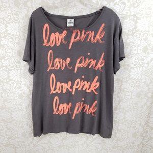 Victoria's Secret Pink Short Sleeve Shirt Small